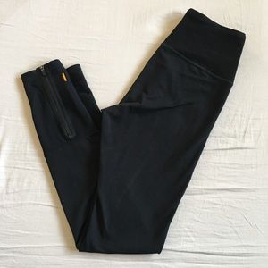 Lucy Black Leggings with Ankle Zippers
